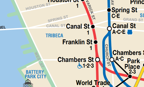 Tribeca Transit Map