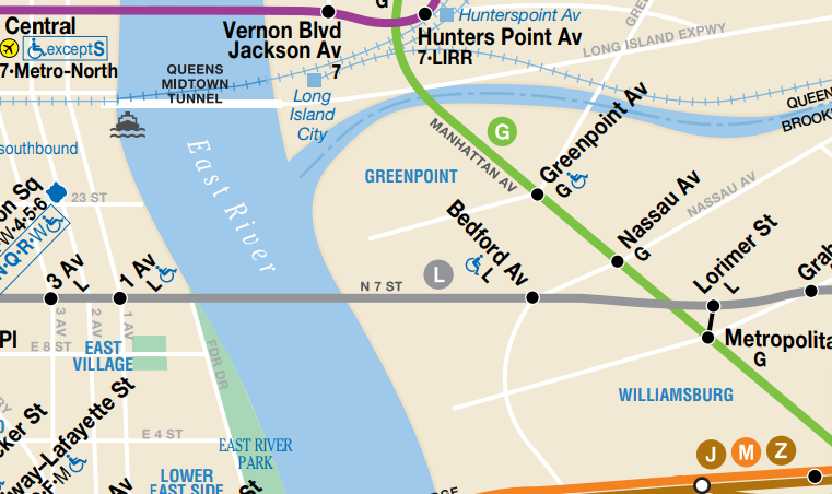 Greenpoint Transit Map